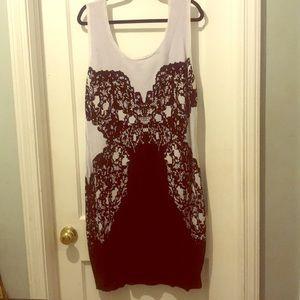 Lane Bryant Black and White dress